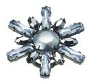 Burnished Silver & Crystal Daisy Cluster Ring