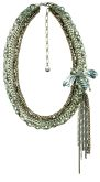 Paradise Silver Multi-Chain & Giant Bee with Tassel Necklace 17