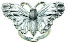 Paradise Silver Butterfly Ring (Adjustable)