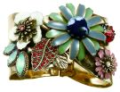 Avant Garde - Gold & Multi Exotic Floral Statement Cuff