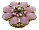 Avant Garde - Gold & Multi Pink Flower Petal Stretch Ring