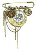 Timepiece Brooch (Multi)