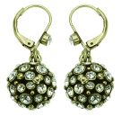 Eras of Elegance - Cream Pearl & Gold Drop Earrings