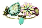 California Dreamin' bangle - gold/pastel-multi (4 + beads)