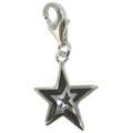 Chrysalis Black Star Enamel Charm