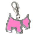 Chrysalis Pink Scottie Dog Charm