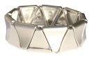 Matt Rhodium Triangular Link Bracelet