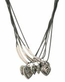 6-Row Spring Necklace with Hearts