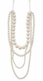 Cream Pearl 4-Row Necklace