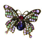 Art Nouveau Butterfly Hairclip and Brooch