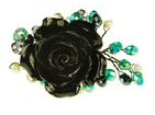 Rosie Fox Black Rose Adjustable Ring