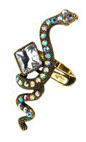 Rosie Fox Crystal Snake Ring