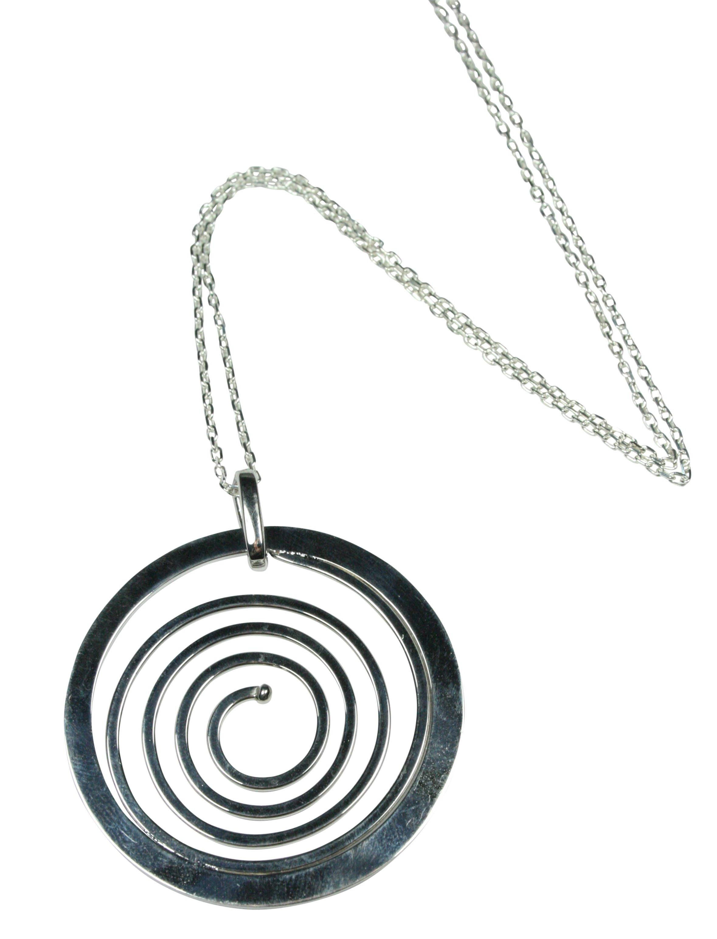 contemporary shop large spiral long debbie necklaces brass pendants by pendant swirl