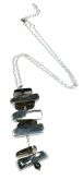Smokey Quartz Bricks Necklace