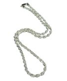 Diamond Cut Solid Rope Chain 20