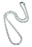 Diamond Cut Solid Rope Chain 18