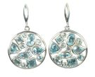 Silver & Blue Crystal Multi-Stone Earrings