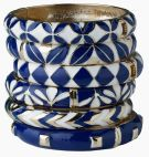 Porcelain Bracelet - Gold/Blue