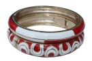 Porcelain Bracelet - Gold/Red