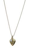 CLARITY Heart Necklace - Gold/White